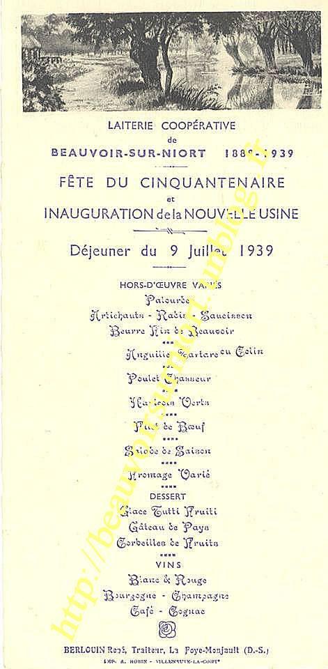 document 1939 laiterie
